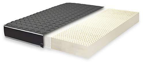 Primo Line Latexmatratze Black Label 7 Zonen Matratze 140x200 H3 Höhe 20 cm RG 70 (bis 125kg) Bezug & Latex Kern ÖKO TEX