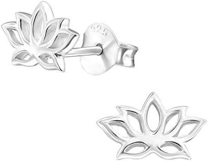 AUBE JEWELRY Hypoallergenic 925 Sterling Silver Lotus Flower Stud Earrings for Women sterling product image