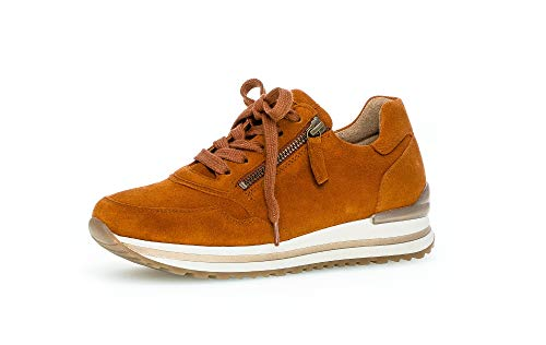 Gabor Damen Sneaker, Frauen Low-Top Sneaker,Comfort-Mehrweite,Reißverschluss,Optifit- Wechselfußbett, elegant Women's Woman,rost,39 EU / 6 UK