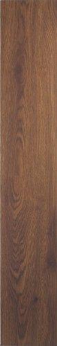 Achim Home Furnishings VFP2.0WA10 3-Foot by 6-Inch Tivoli Vinyl Floor Planks, Walnut