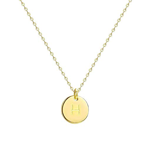 Danbai Solid Round Necklace With Different Capital Letters Alloy, Unique Style Chain Clause Styles Gold