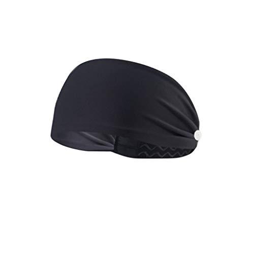Fenverk Kopfband, Headband für optimalen Ohrenschutz beim Jogging, Trage eine M-a-s-k-e,Laufen, Wandern, Fahrrad- und Motorrad Fahren - Stirnbänder für Damen und Herren,with Button(E#03)