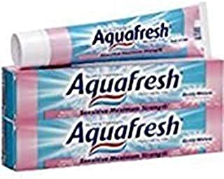 Aquafresh Sensitive Maximum Strength Fluoride Toothpaste-5.6 oz, 2 pk