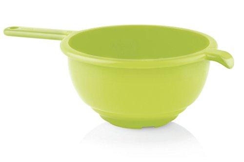 Guzzini Forme Casa 120153-84 Colapasta con Manico, Plastica, Verde, Diametro 24 cm