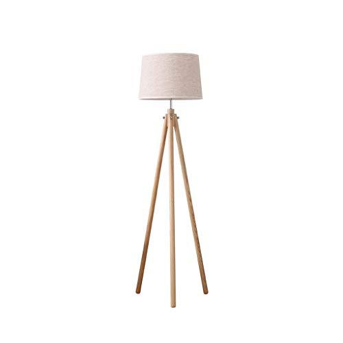 Staande lamp creatieve massief hout drie poten staande lamp woonkamer slaapkamer decoratie bureaulamp staande lamp