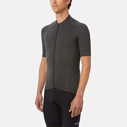 Giro Herren M New Road Jersey Fahrradbekleidung, Charcoal Heather, L