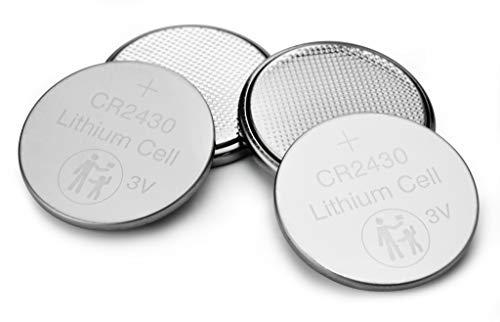 VERBATIM Batterie a bottone al litio Premium CR2430 Confezione da 4 3V 290mAh - Pile a bottone al litio per orologi chiavi della macchina telecomandi fotocamere giochi ecc - Cella a bottone