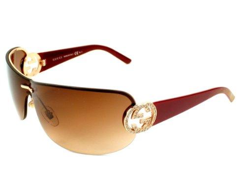ca21231f663 Gucci Sunglasses GG 4224 S X5771 Acetate plastic - Rhinestones Copper Gold Red  Gradient Brown