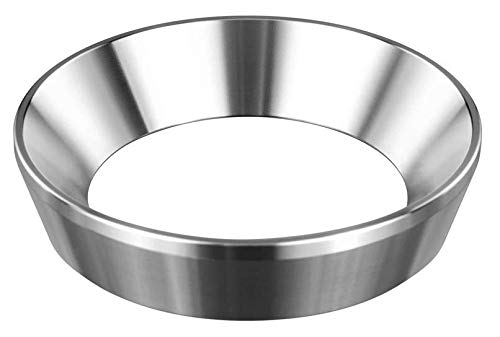 Neu: Espresso-Trichter für E61 Siebträger/Brühgruppe und 58 mm Tamper - Edelstahl Dosierring zum exakten befüllen des Kaffeepulver, Fülltrichter zum präzisen tampern, Barista Zubehör