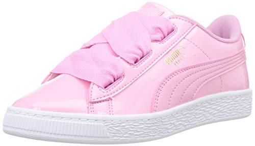 PUMA Basket Heart Patent PS, Zapatillas para Niñas, Prism Pink-Prism Pink, 32 EU