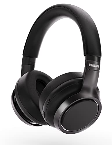 Philips H9505 Hybrid Active Noise Canceling (ANC) Over Ear Wireless Bluetooth Pro-Performance Headphones H9505
