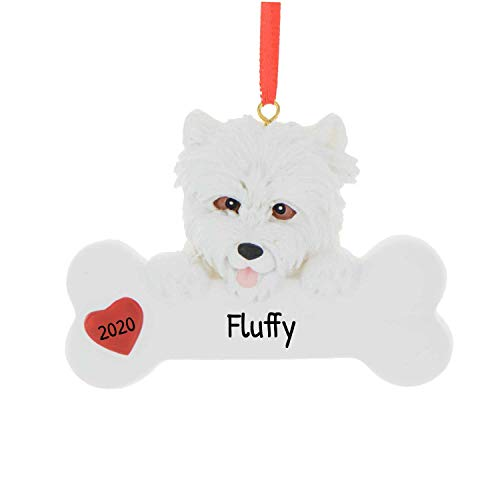 Personalized Westie Christmas Tree Ornament 2020 - Fluffy Dog Paw Pure Love Play Fun Intelligent West Highland White Terrier Fur-Ever New Loyal Family Companion R.I.P. - Free Customization