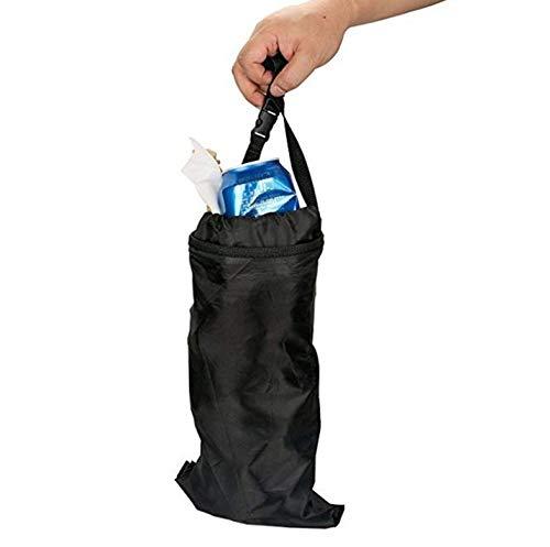 Mini Basura Papelera De Reciclaje, Reciclado Portátil Y Plegable De Basura Coche Colgante Bin Organizador con Tapa Y Almacenamiento Bolsillos para Botellas