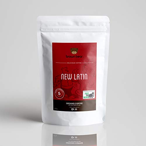 petit un compact Ours brun traditionnel latino-américain fraîchement moulu, mélange 100% caféine arabica et expresso,…