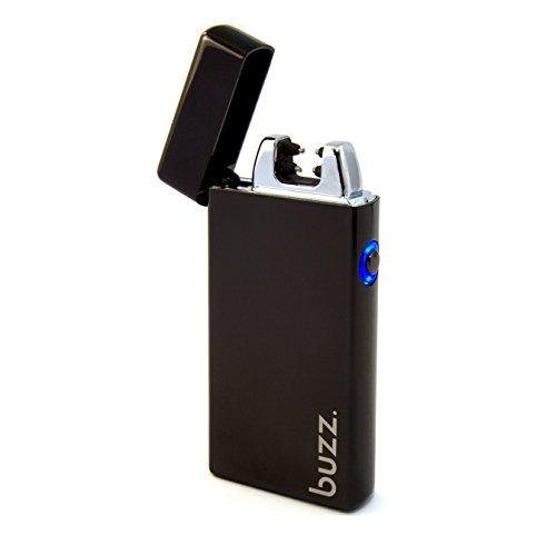 buzz.lighter Buzz. USB Feuerzeug - Elektrofeuerzeug - Lichtbogen Feuerzeug aufladbar - elektrisch aufladbar mit Akku - Laser, Tesla Lighter, Geschenk, Batterie, schwarz Schwarz