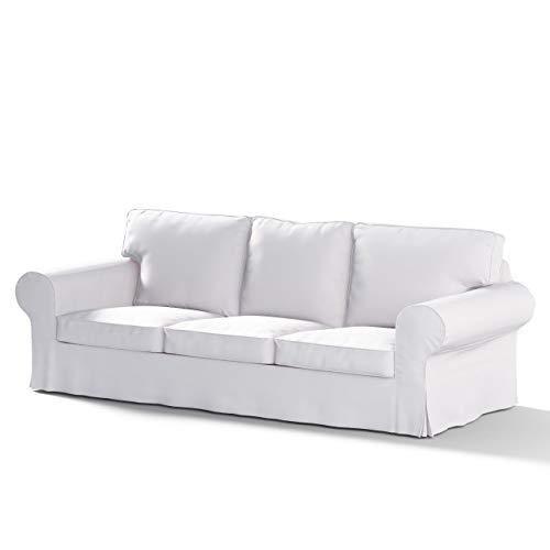 FRANC-TEXTIL 610–702–34Ektorp 3posti Divano Rivestimento Non richiudibile, Cotton Panama, Crema/Bianco