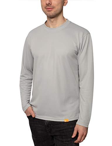 iQ-UV T-Shirt à Manches Longues pour Homme - Protection UV 50+ - Gris - Taille XS (46)