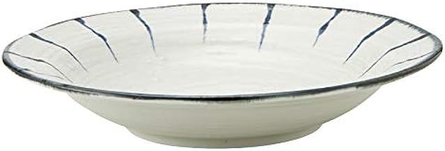 RAMEN STYLE 藍十草 8.0麺皿 めん皿 25cm 中華食器・アジアン食器 つけ麺用皿 日本製 美濃焼 業務用 59-466-0110