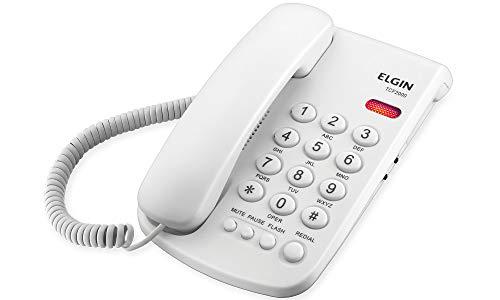 Telefone com Fio de Mesa Elgin TCF2000 Branco, Elgin, TCF2000B, Branco