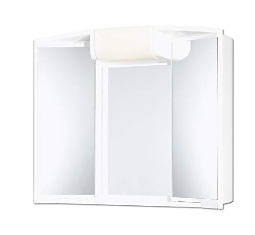 Jokey Spiegelschrank Angy mit Licht Beleuchtung 59 cm breit weiss