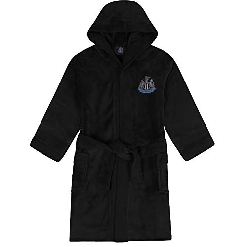 Newcastle United FC Dressing Gown Robe Mens Fleece - Official Gift - Black XL
