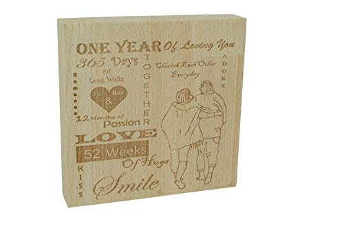 Pirantin One Year Of Loving You - 1st Anniversary Solid Heavy Decorative Free Standing Ornament