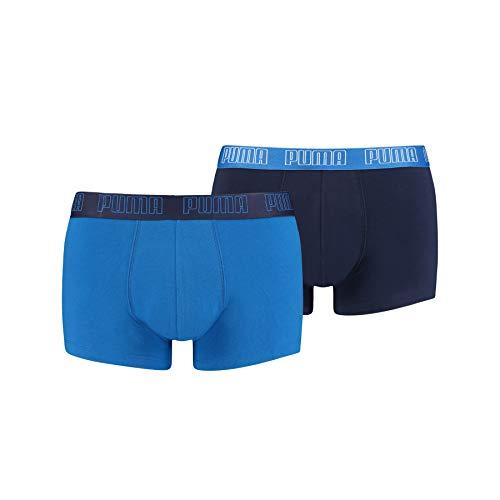 PUMA Basic Men's Trunks (2 Pack), Blu, L (Pacco da 2) Uomo