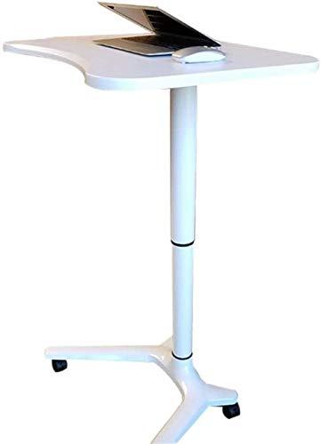 JCCOZ-URG Mobile Laptop Desk, Sit-Stand Table Desk for Reading with castors, Height Adjustable for Sitting and Standing, Multifunctional Lectern JCCOZ-URG (Color : A)