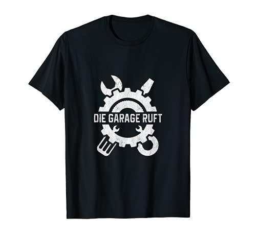 El garaje llama a destornilladores, manualidades, mecánicos, garajes, sótanos. Camiseta
