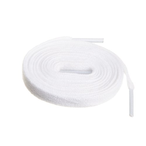 Birch Shoelaces in 27 Colors Flat 5/16' Shoe Laces in 4 Different Lengths, White, 29.5'(75cm) S