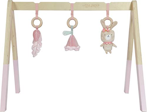 LITTLE DUTCH 4439 Holz Baby gym Spieltrapez inkl. Anhänger - rosa
