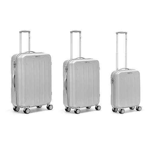 R Roncato Flight Set Da 3 Trolley Trolley para portátil 76 Centimeters Plateado (Argento)