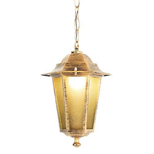 LJF Lampe . Cenador creativo de estilo europeo para patio, jardín, balcón, pasillo, salón, comedor, dormitorio, bar, decoración, lámpara colgante