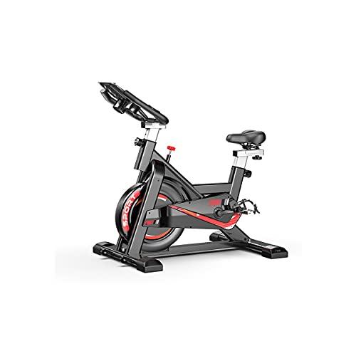 Bicicleta de spinning Bicicleta De Ejercicio, Ciclismo De Interior Bicicletas De Ejercicio Para El Hogar, Transmisión Por Correa / Volante / Soporte / Asiento Ajustable Para El Hogar Y El Gim(Color:B)