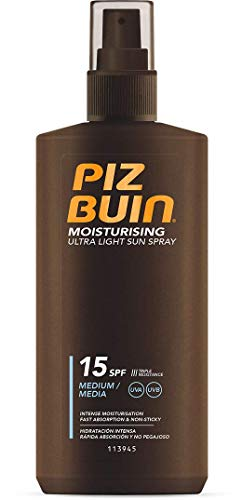 Piz Buin Ultra Light Hydrating Sun Spray LSF 15, 200 ml