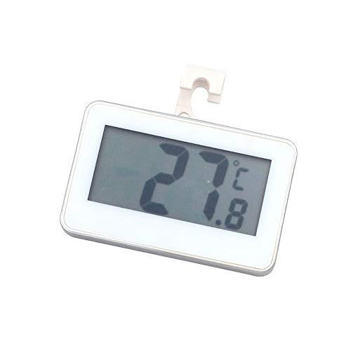 DollaTek Termometro per frigorifero, monitor LCD per termometro per frigorifero e congelatore digitale con gancio per appendere e supporto retrattile