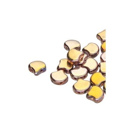 20 7.5 x 7.5 mm Czech Glass Matubo Ginkgo Leaf Beads:Luster-Transparent Amethyst