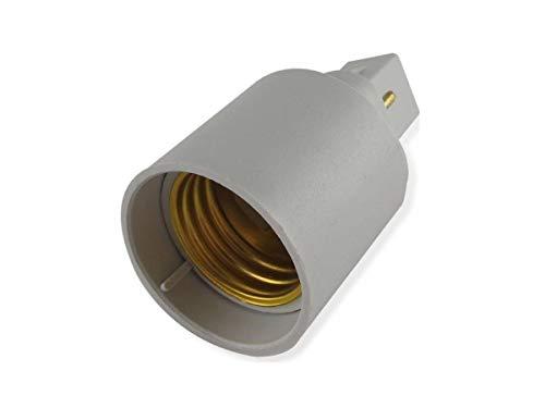KIT 2 PEZZI ADATTATORE CONVERTITORE G24 - E27 PER SOLO LAMPADINE A LED