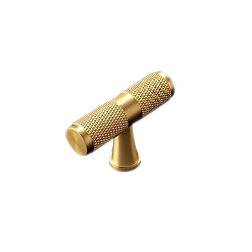 Pomello per porta armadio in ottone massiccio a forma di T, maniglia universale per mobili, per cassetti, credenze, cucina, porta, 50 mm (1 pz)