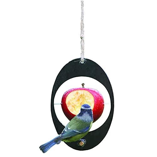 Qagazine Comedero colgante para pájaros pequeños, de plástico reutilizable para pájaros con diseño de frutas para decoración de jardín al aire libre