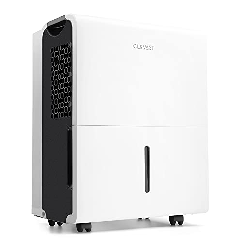 CLEVAST 4,500 Sq. Ft Energy Star 50 Pints Dehumidifier with Reusable Air Filter for Home, Basement, Living Room, Garage or Closet, 1.6 Gallons Removable Water Tank Capacity, UL Listed