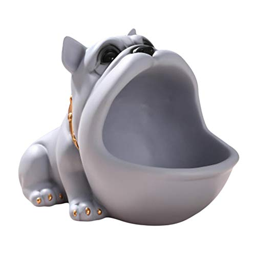 Cuenco Decorativo llaves Para Almacenamiento Caja De Figuras Decorativas De Perro De Boca Grande De Resina Adecuado Para Guardar Llaves Joyas Dulces Y Otros Artículos Amicable,4,72 8,27 5,71 Pu