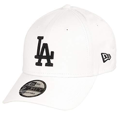New Era Los Angeles Dodgers 9forty Adjustable Cap MLB Rear Logo White/Black - One-Size