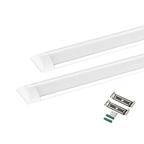 2X 40W LED Deckenleuchte Röhre Licht, 120cm LED Lattenleuchte, Leuchtstoffröhre Kaltweiß 6000K für Büro, Küche, Garage