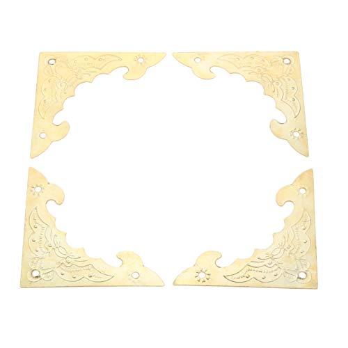 DUO ER 12Pcs Antique Metal Jewelry Box Corner Decor Foot Leg Protector Guard Furniture Decorative Metal Corner Protector 40 * 40mm
