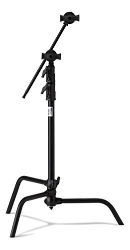 Kupo 20in Master C-Stand with Sliding Leg Kit (Stand 2.5in Grip Head & 20in Grip Arm with Hex Stud) - Black (KS703811)