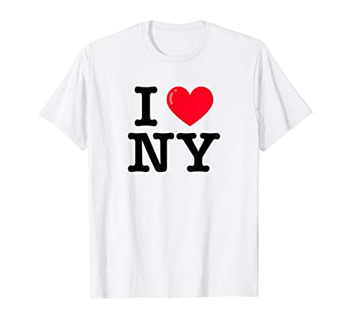 I Heart NY Classic Typewriter Font T-Shirt