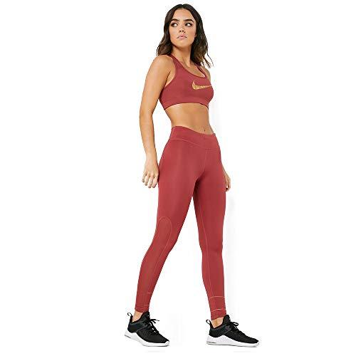 Nike Damen Tights Fast Glam Dunk, Cedar/Metallic Gold, XS, CJ9710