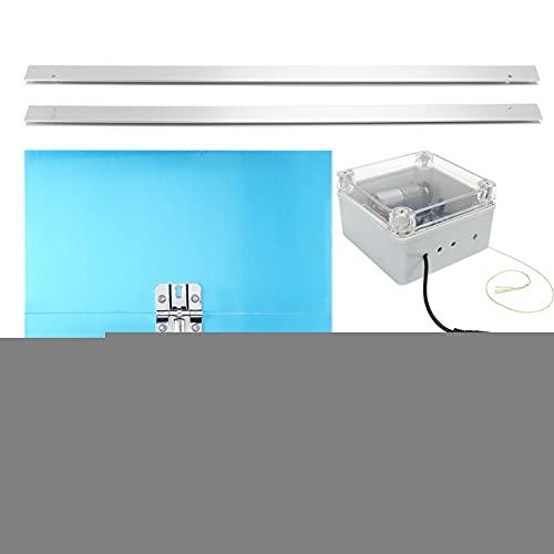 Abridor AutomáTico de Puerta de Gallinero, Gallinero con Control de Luz y Tiempo Pantalla LCD Integrada, Gallinero de Tiempo Programable Accesorios AgríColas Adecuado para Aves de Corral Caseras(01)
