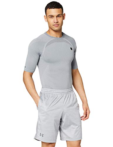 Under Armour UA MK-1 Twist Shorts Transpirable, Pantalones Cortos Deportivos, Hombre, (Steel/Graphite (035), L